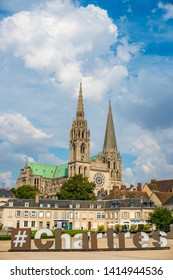 Chartres, Centre Val of Loira/France.07/27/2018 The Cathedral of the Assumption of Our Lady, Chartres
