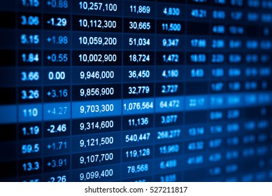 Charts of financial instruments with various type of indicators including volume analysis for professional technical analysis on the monitor of a computer. Fundamental and technical analysis concept.