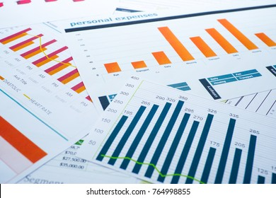 Charts and Graphs paper. Financial, Accounting, Statistics, Investment, Analytic research data and Business company meeting concept.