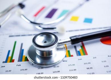 Gráficos de papel. Desarrollo financiero, cuenta bancaria, estadísticas, economía de datos de investigación analítica de inversiones, bolsa de valores, presentación de informes de oficinas móviles Concepto de reunión de empresas comerciales.