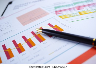 Charts Graphs paper. Financial development, Banking Account, Statistics, Investment Analytic research data economy, Stock exchange trading, Business office company meeting concept.