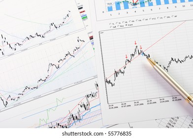 charts and graphs of sales of securities - workplace successful business man