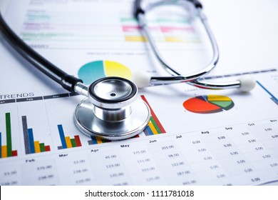 Charts Graphs spreadsheet paper. Financial development, Banking Account, Statistics, Investment Analytic research data economy, Stock exchange trading, Business office company meeting concept.