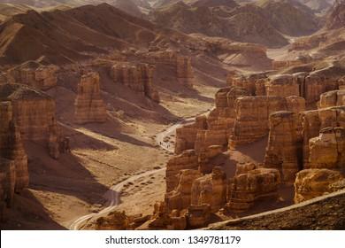 Charyn Canyon in Almaty, Kazakhstan