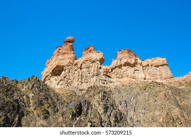 Charyn Canyon in Kazakhstan. The Valley of Castles.