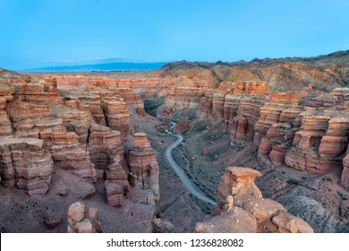 Charyn Canyon in South East Kazakhstan, taken in August 2018