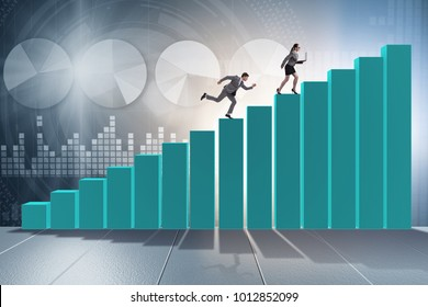 Chasing business people in competition concept
