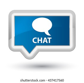 Chat blue banner button