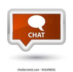 Chat brown banner button