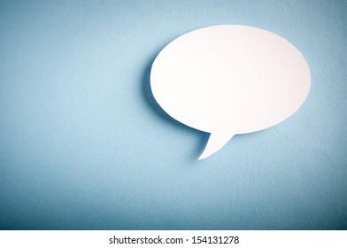 Chat bubbles - paper cut design