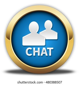 chat button isolated. 3D illustration