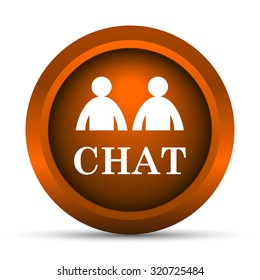 Chat icon. Internet button on white background.