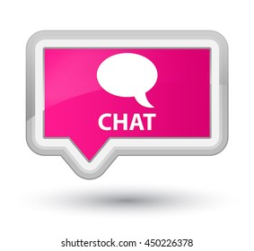 Chat pink banner button