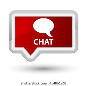 Chat red banner button
