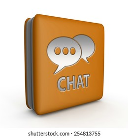 Chat square icon on white background