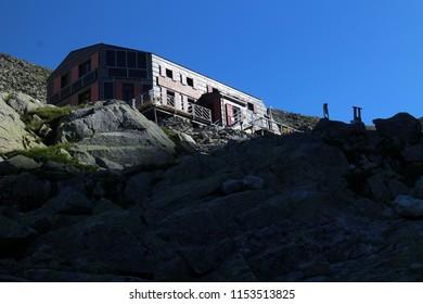 Chata pod Rysmi hut near Rysy peak, High Tatras, Slovakia