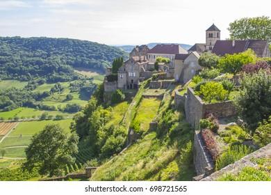 Chateau Chalon, Route des Vins du Jura, Departement Jura, Franche-Comte, France