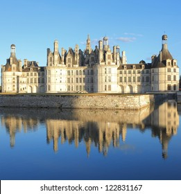 Chateau Chambord and reflection