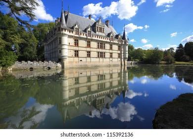 Chateau d'Azay-le-Rideau and reflection