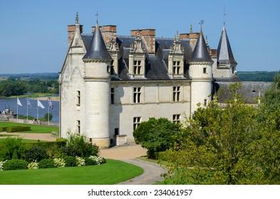 Chateau de Amboise medieval castle, Leonardo Da Vinci tomb. Loire Valley, France, Europe.
