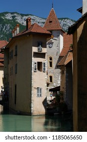Chateau de Annecy on the canals of Annecy France