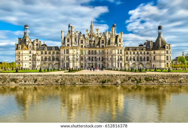 Chateau de Chambord, the largest castle in the Loire Valley. A UNESCO world heritage site in France. Built in the XVI century, it is now a property of the French state