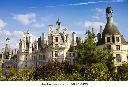 Chateau de Chambord, the largest royal Renaissance french castle, Loire Valley, France