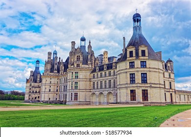 Chateau de Chambord palace in Eure et Loir department of Loire valley region, in France.
