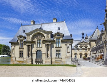 Chateau de Chantilly, which is a historic manor house located in the town of Chantilly, France