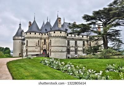 Chateau de Chaumont (Chateau de Chaumont-sur-Loire) - castle in  France. The chateau - historic monument and major tourist destination in  Loir-et-Cher, Loire Valley. France. Photo taken 2014-04-30.