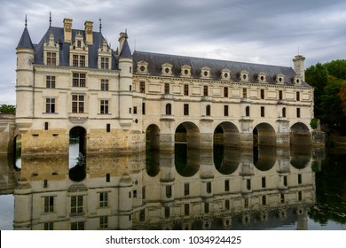 Chateau de Chenonceau a French castlle, small village of Chenonceaux, Indre-et-Loire,  Loire Valley, France. UNESCO World Heriatge