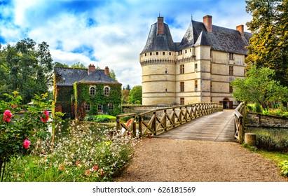 The chateau de l'Islette, France. Renaissance castle is located in the Loire Valley.