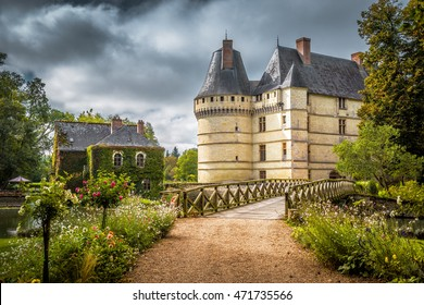 Chateau de l'Islette, France. This nice Renaissance castle located in Loire Valley, was built in the 16th century and is a tourist attraction. Beautiful scenic view of the old French castle in summer.