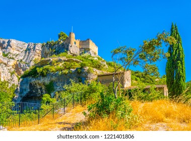 Chateau de Philippe de Cabassolle situated in Fontaine de Vaucluse village in France