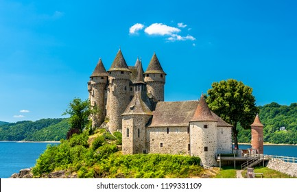 The Chateau de Val, a medieval castle on a bank of the Dordogne river in France