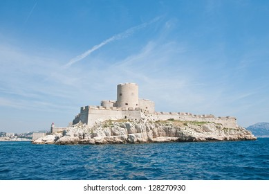 Chateau d'If, famous prison mentioned in Dumas Monte Cristo novel, Marseille, France
