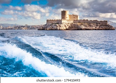 Chateau d'If, Marseille, France, colorful seascape