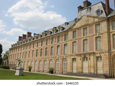 The Chateau at Fontainebleau in France.