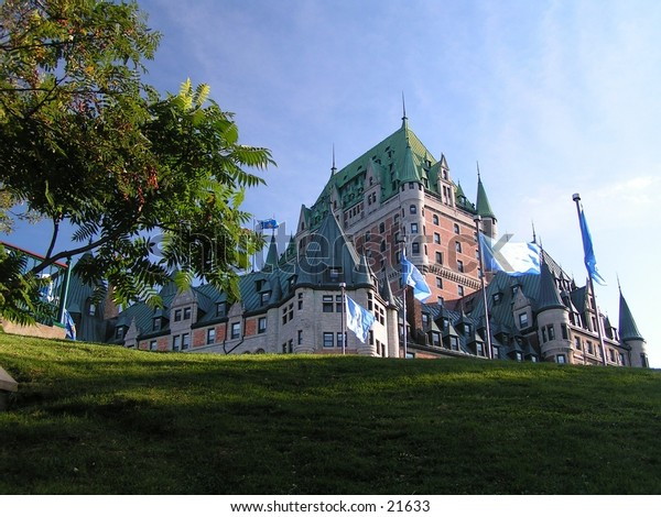 the Chateau Frontenac in Quebec city from a different view point