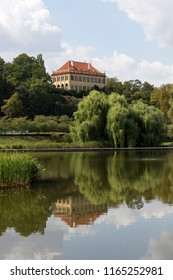 Chateau - the governors Summerhouse -  in the largest Park in Prague – Stromovka - the Royal Tree-tree, Czech Republic