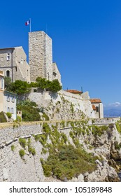 Chateau grimaldi in Antibes - now Picasso museum - here is one of world's greatest Picasso collections. Antibes is a resort town in Alps-Maritimes department in southeastern France, Cote d'Azur.