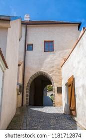 Chateau historical gate in Trebic.