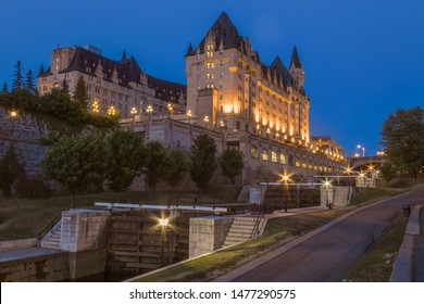 Chateau Laurier by the Rideau Canal