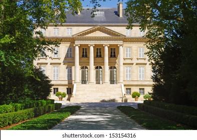 Chateau margaux is a famous wine estate of Bordeaux wine. France