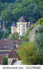 Chateau at Roque-Gageac, one of France's most beautiful villages, on the Dordogne River