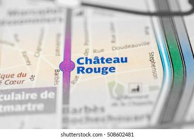 Chateau Rouge Station. 4th Line. Paris. France