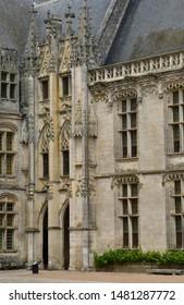 Chateaudun; France - june 30 2019: the gothic castle built by Jean de Dunois