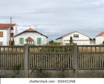 Chatelaillon, France. A strict frontal angle view of the railway area of the city.