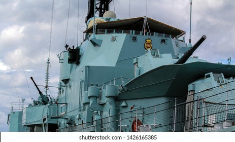 Chatham Kent UK June 15th 2019 HMS Cavalier at the historic dockyards and on show to the public.