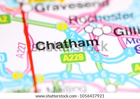 Chatham England Map.Chatham United Kingdom On Map Stock Photo Edit Now 1056437921